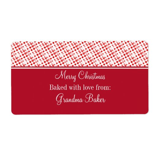 Holiday Effervescence Christmas Labels, Red