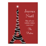 Holiday Eiffel Tower Card red Personalized Invitations