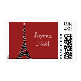 Holiday Eiffel Tower Stamp