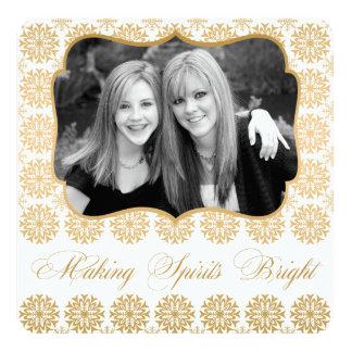 Holiday Elegant Gold Making Spirits Bright Card