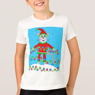 Holiday Elf Kitty T-Shirt