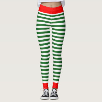 Holiday Elf Leggings - Christmas Elf Costume Pants