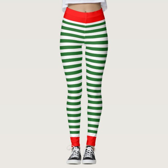 Holiday Elf Leggings - Christmas Elf Costume Pants