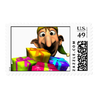 Holiday Elf Postage Stamp