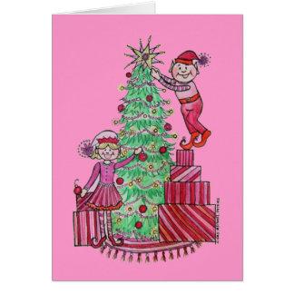 Holiday Elves Christmas Card