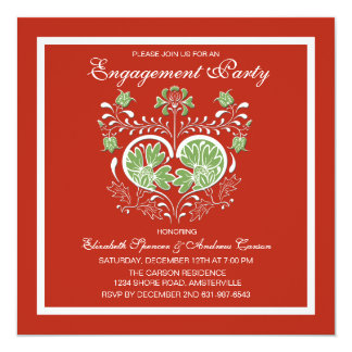 Holiday Engagement Party Invitation