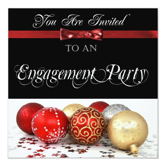 Holiday Engagement Party Invitation – Holiday Engagement Party Invitations