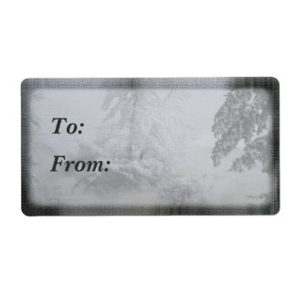 Holiday Evergreen Gift Tag Personalized Shipping Label