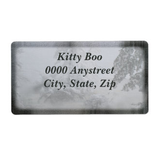 Holiday Evergreen Large Shipping Label