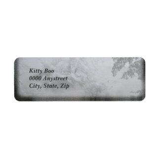 Holiday Evergreen Return Address Label