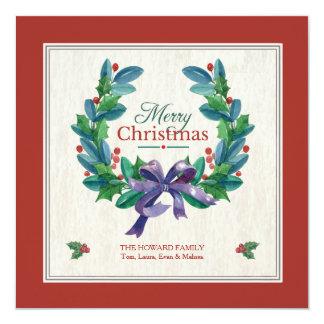 Holiday Evergreen Wreath Card