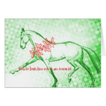 HOLIDAY EXTENDED TROT 5x7 GREETING CARD