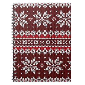 Holiday Fair Isle Knit Pattern Notebook