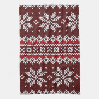 Holiday Fair Isle Knit Pattern Towel