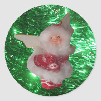 Holiday Fairy Round Stickers