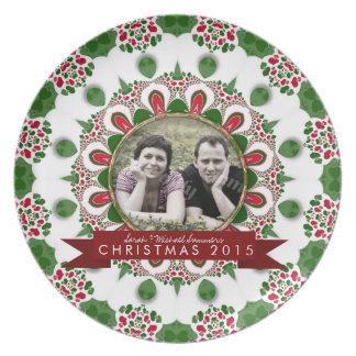 Holiday Family Friends Keepsake Photo Gift Plate