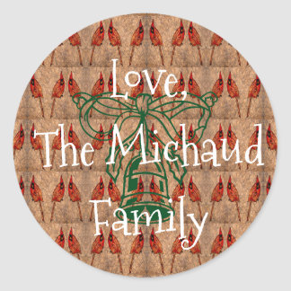 Holiday Family Gift Classic Round Sticker