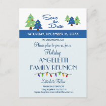 Holiday Family Reunion, Party, Event Save the Date Announcement Postcard