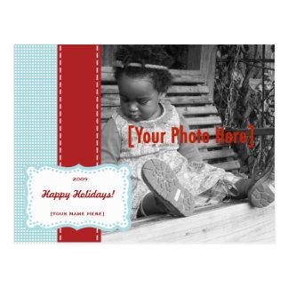 Holiday Fancy Polka Dot Photo Card