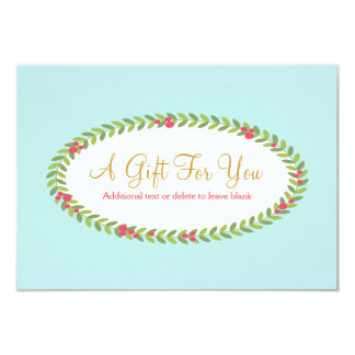 Holiday Fashion and Beauty Gift Certificate 3.5x5 Paper Invitation Card