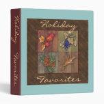 Holiday Favorites Recipe Notebook 3 Ring Binder