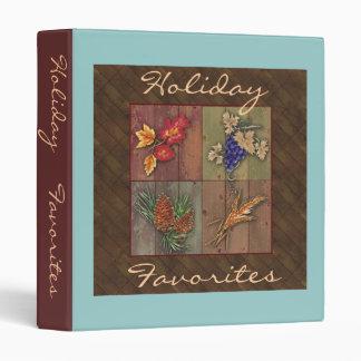 Holiday Favorites Recipe Notebook Binder