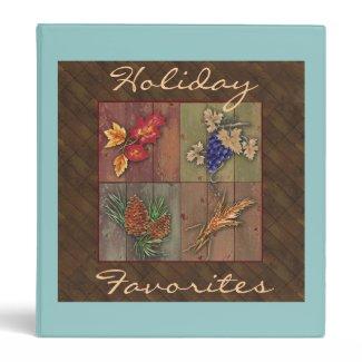 Holiday Favorites Recipe Notebook Vinyl Binder