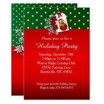 Holiday Festive Christmas Bear Invitation
