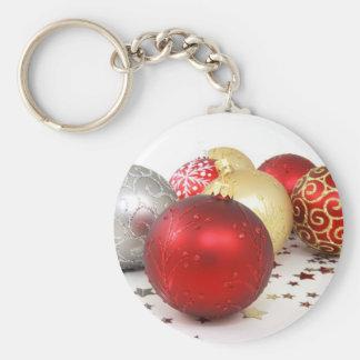 Holiday Festive Christmas Ornaments Keychain