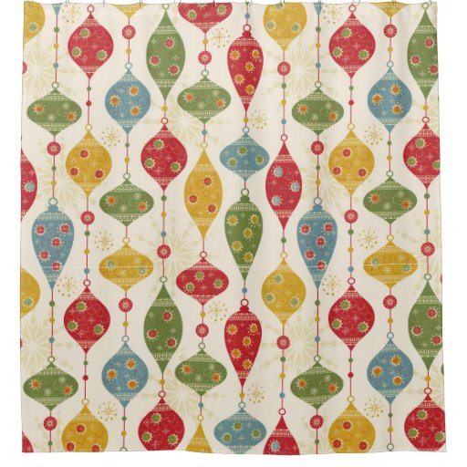 Fabric Christmas Shower Curtains For A Festive Look Uniq Home Decor
