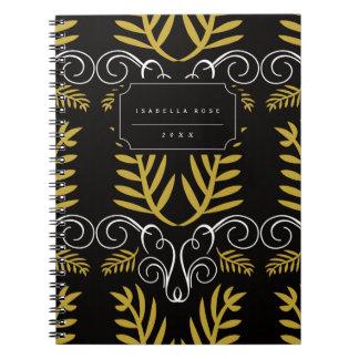 Holiday Festive Deco Gold Foliage Holiday Notebook