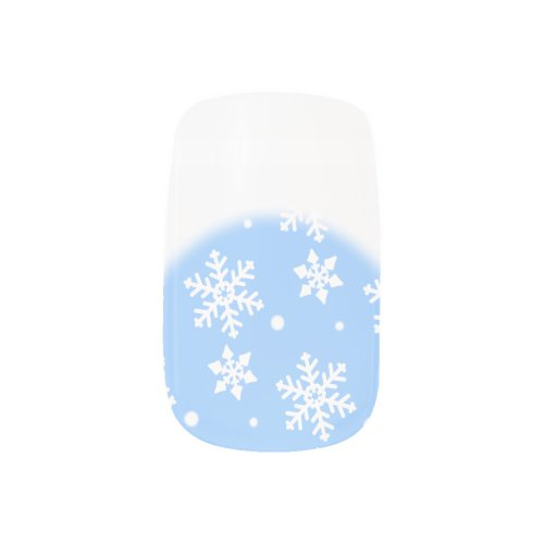 Holiday Fingernails Christmas Snow Nail Decals Minx® Nail Wraps