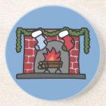Holiday Fireplace Coaster