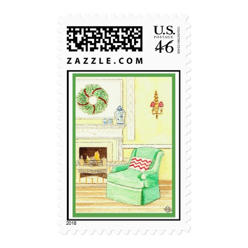 Holiday Fireside Stamp