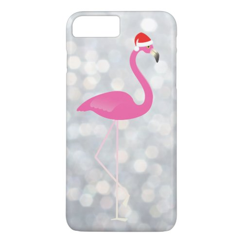 Holiday Flamingo iPhone 7 on silver lights iPhone 8 Plus7 Plus Case
