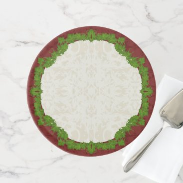 Beach Themed Holiday Fleur and Vines Cake Stand