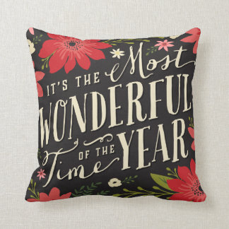 Holiday Floral Pillow