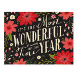 Holiday Floral Postcard at Zazzle