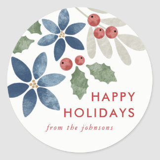 Holiday Floral Sticker