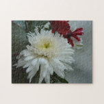 Holiday Flowers and Snow I Christmas Floral Jigsaw Puzzle