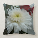 Holiday Flowers and Snow I Christmas Floral Throw Pillow