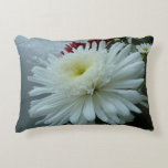 Holiday Flowers and Snow II Christmas Floral Decorative Pillow