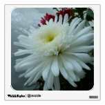 Holiday Flowers and Snow II Christmas Floral Wall Sticker