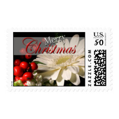 Holiday Flowers Usps Christmas Postage Stamp 2017 at Zazzle