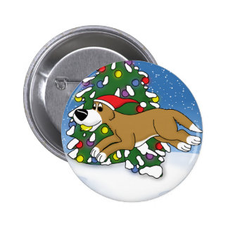 Holiday Flyball Button