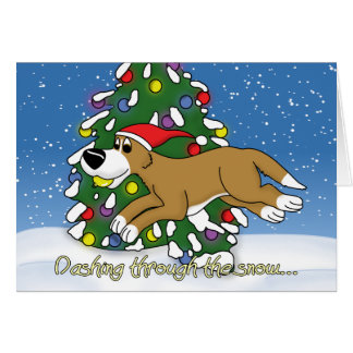 Holiday Flyball Christmas Card