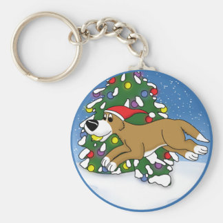 Holiday Flyball Keychain
