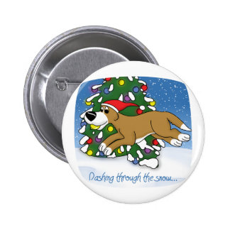 Holiday Flyball Pinback Button