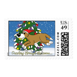 Holiday Flyball Postage Stamps