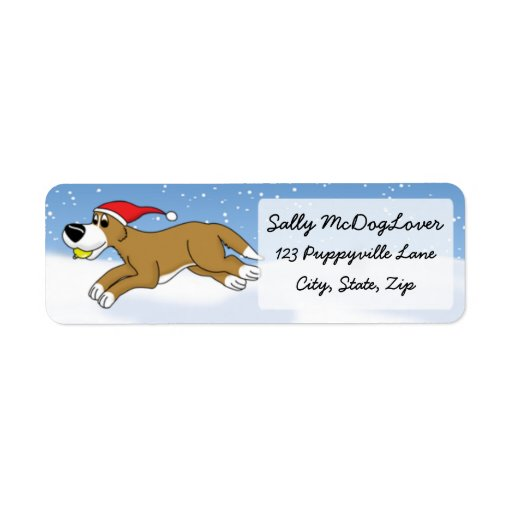 Holiday Flyball Return Address Label
